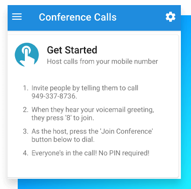 Image of get started with conference calling.
